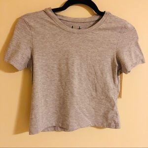 🌻 Heather Gray Crop T-Shirt Sz Large🌻